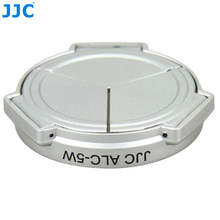 JJC Camera Silver Open Close Automatic  Self Retaining Protector Auto Lens Cap for PANASONIC DMC LX5 & Leica D Lux5 (silver)
