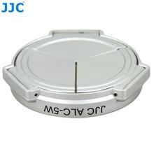Jjc 카메라 실버 오픈 닫기 자동 자체 유지 보호기 파나소닉 DMC LX5 & leica D Lux5 (실버) 용 자동 렌즈 캡