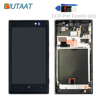 Original LCD Display Replacement For Nokia Lumia 925 Touch Screen Digitizer Assembly With frame
