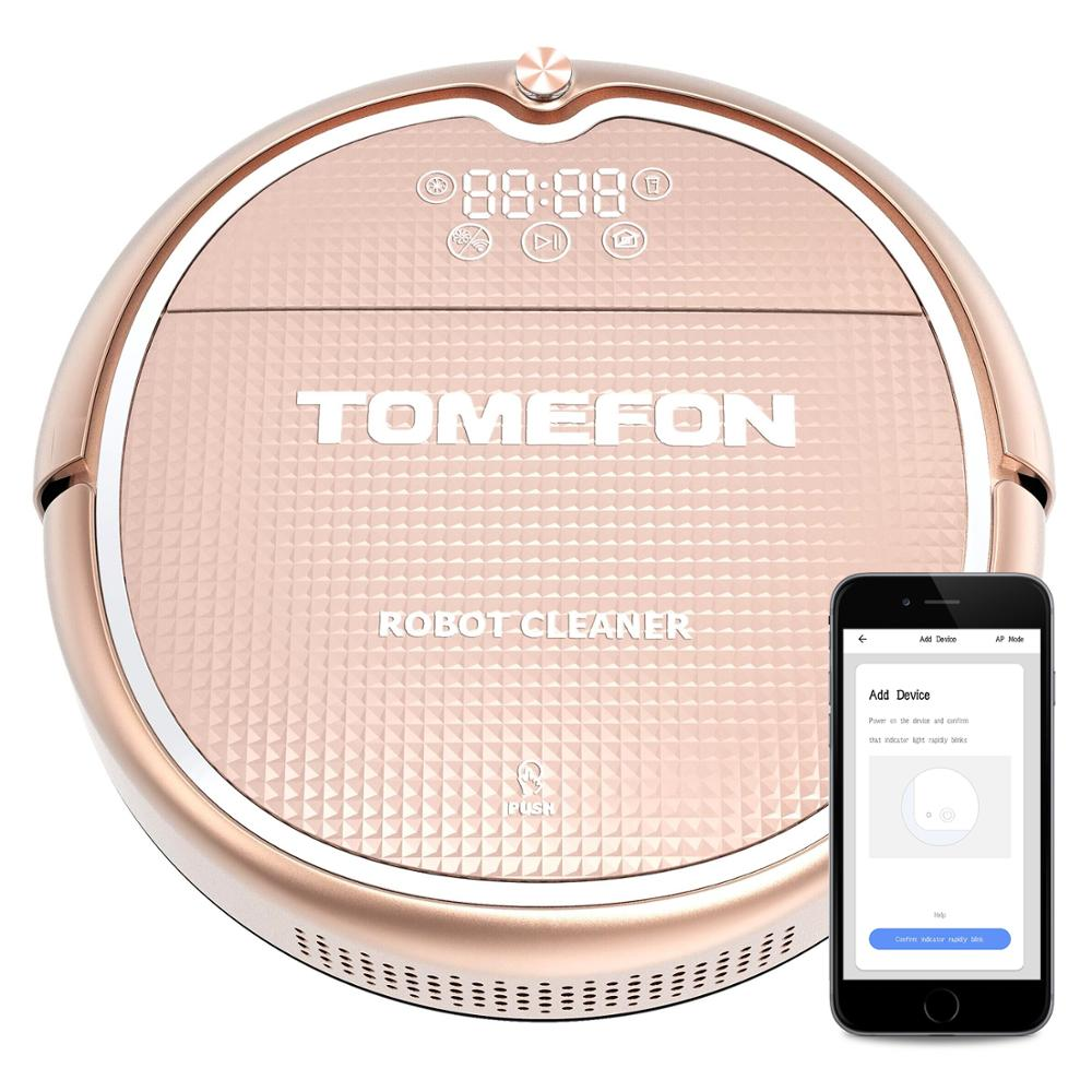 TOMEFON TCN805 Robot Vacuum Cleaner 2 in 1 Intelligent Cleaning Robot For Hard Floors&Carpet Run 120mins