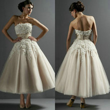 Sexy Strapless Applique Backless Ball Gowns Wedding Dresses 2014 vestido de noiva Tulle Bridal zy1155