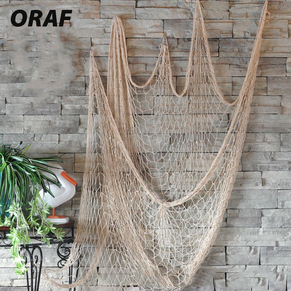 Decorative Fishing Net Hanging Net Ceative Hemp Rope 1*2M ...