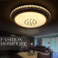 Luxury Crystal Ceiling Lamp Round K9 Crystal Ceiling Chandelier Light led cristal lampe lampara led techo mando design light