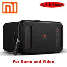 "Original Xiaomi VR Headset Mi BOX Black Gear Google Cardboard VR Virtual Reality Goggles Earphone Gamepad for 4.7""-5.7"" Phone"
