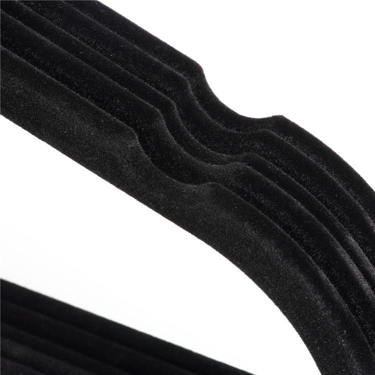 Hangerlink Чорні бархатні вішалки, - Організація і зберігання в будинку - фото 4