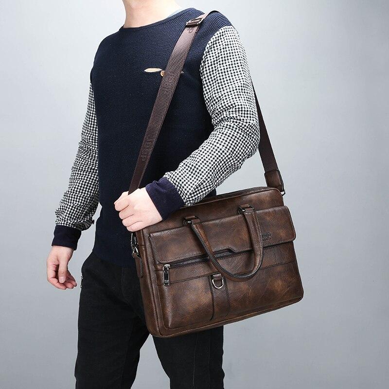 sacos crossbody negócios casual bolsa masculina divisor