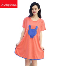 Xiangerma Short-Sleeved Dress Adult Pajamas Ms. Cotton Casual Nightgown Spijama Kigurumi Tracksuit Chinese For Women