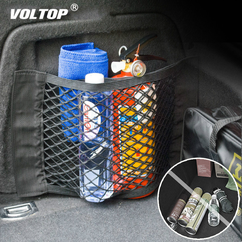 Mesh Trunk Car Organizer Storage Net Universal goods Rear Seat Back Stowing Tidying Accessories Travel Network Pocket Bag in Stowing Tidying from Automobiles Motorcycles