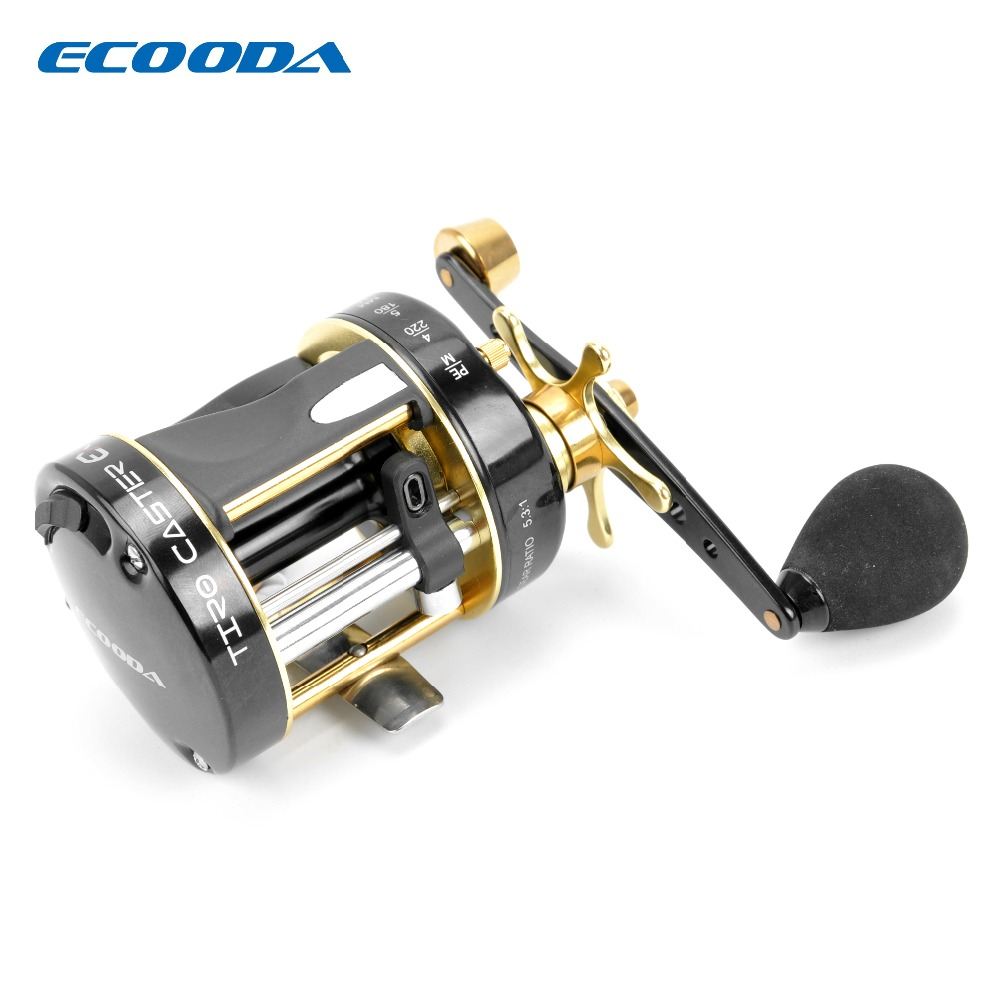 ECOODA Baitcasting Fishing Reel Trolling Reel Snakehead Reel Light Jigging Reel Left Right hand ETC II