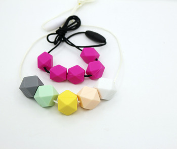 HOT!!!  Silicone Teething Necklace Very beautiful Pendants Jewellery for mom to wear and baby to enjoy Free Shipping