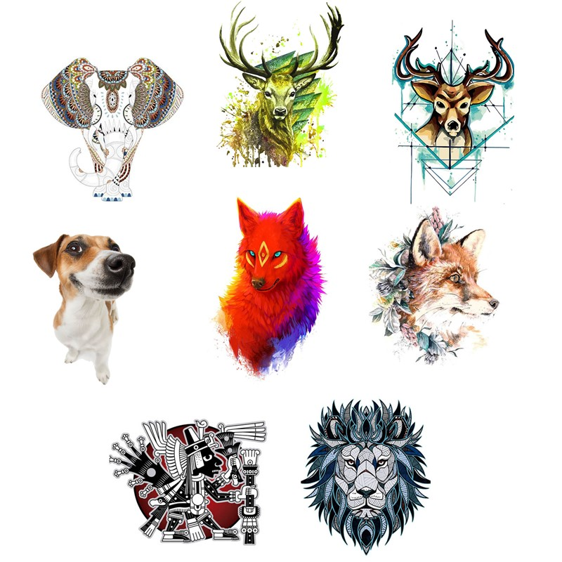 Series Animals Iron on Heat Transfer Printing Patches Stickers A level Washable Patch for Clothes Jeans T shirts DIY Appliques in Patches from Home Garden