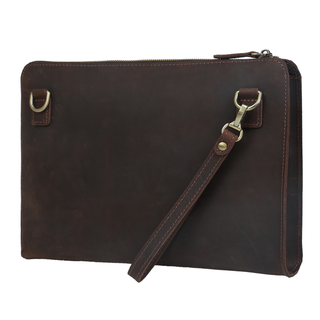 Aliexpress.com : Buy Tiding Men Leather Clutch Envelope Bag Purse ...
