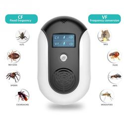 2018 Smart Ultrasonic Mosquito Killer Lamp Pest Control Electronics Mosquito Killer Fly Bug Trap Lamp LCD Insect Bug Repeller