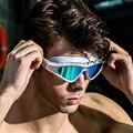 Prescrição Óptica óculos profissionais óculos de Miopia Natação dioptria Natação piscina Silicone profissional óculos de natação Grande quadro