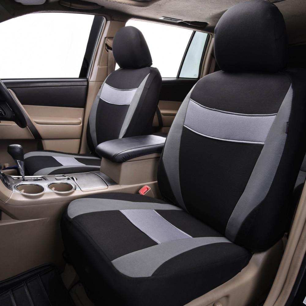 Car-pass Fundas de asiento de automóvil Gris Azul Rojo Colores Tela - Accesorios de interior de coche - foto 6