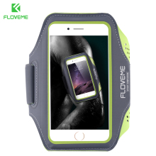 FLOVEME Sports Armband for iPhone 6 6s Plus 5s 4s for Samsung Galaxy S6 S6 Edge S5 For LG Touch Front Screen Running Gym Case