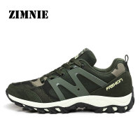 ZIMNIE Brand Men Running Shoes Sport Shoes Lightly Breathable Lace up Outdoor Men Sneaker Army Unisex Jogging Shoes Size 35~44