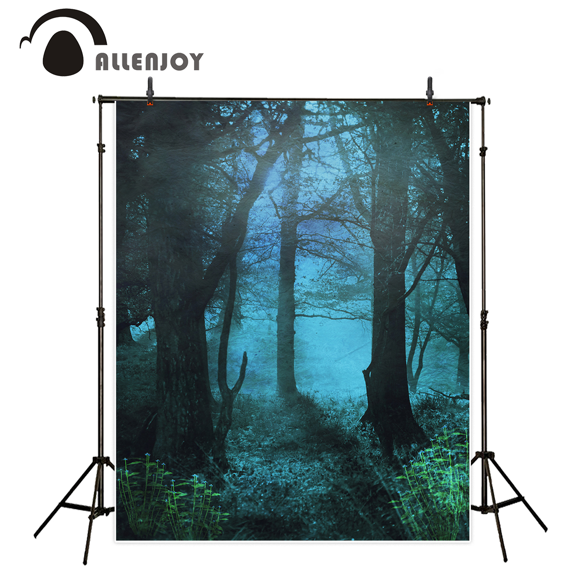 Allenjoy photography backdrops tree woods night forest Funds for photography studio photography background for studio photo