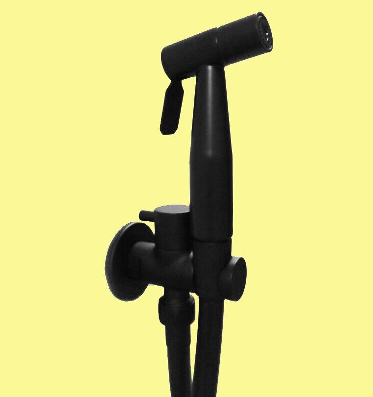 สีดำมือถือ Bidet สเปรย์สีดำ Shower Sprayer ชุดห้องน้ำ Shattaf Douche ชุดก๊อกน้ำ, 304 สแตนเลส BL001-ใน โถชำระล้าง จาก การปรับปรุงบ้าน บน AliExpress - 11.11_สิบเอ็ด สิบเอ็ดวันคนโสด 1