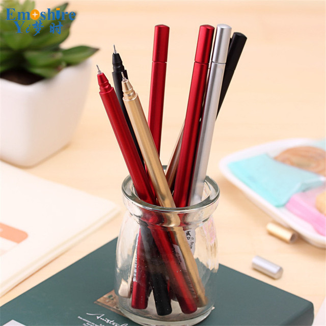 5 Pecs/lot Black Ink Ballpoint Pen 0.5 mm Classic Office Accessories Pens Stationery Canetas escolar Material Writing C010