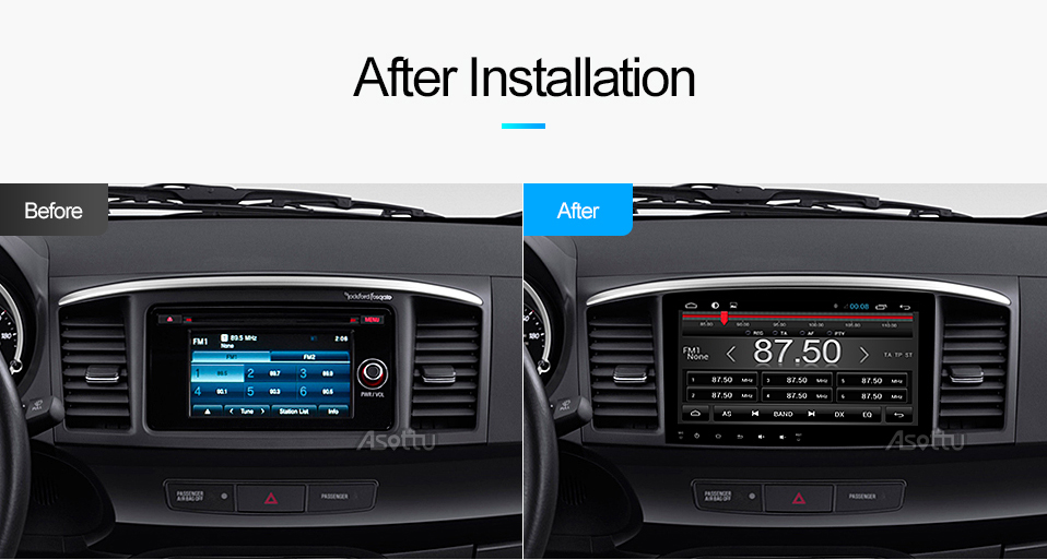 Asottu CYS1060 2G Octa Core Android 7 1 for Mitsubishi Lancer stereo  multimedia headunit GPS Radio car dvd gps player stereo gps