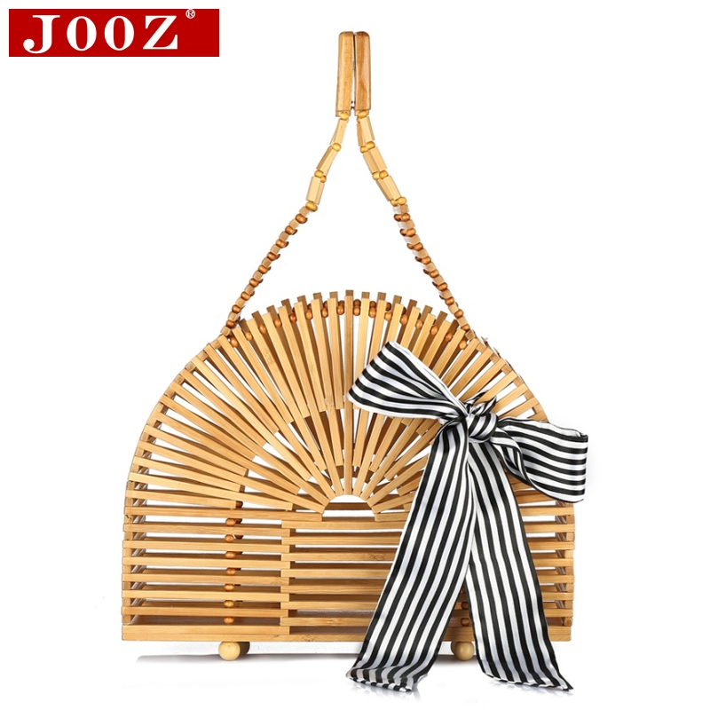 JOOZ Hand-woven women bamboo bags Beading shell Ladies Hand Bag high quality wood causal totes Women's handbags 4pcs lot led 900w smoke machine mini 900w rgb 3in1 remote control fog for party ktv disco dj stage fogger machine page 6