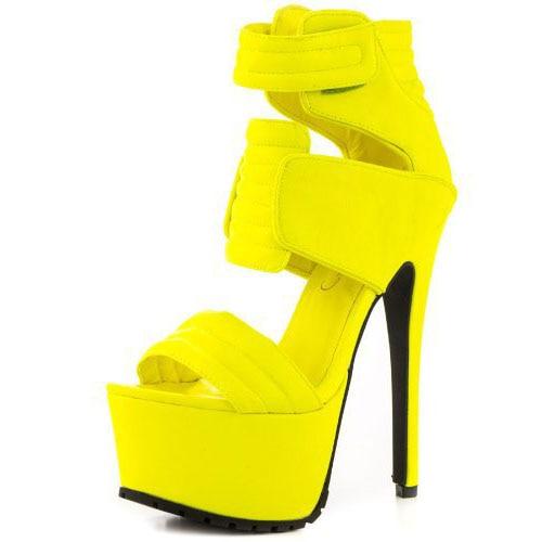 ФОТО 2016 Peep toe solid stiletto Sandals hook&loop Platform women shoes Sky high heel Gladiator pumps For Party big size15