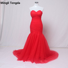 Mingli Tengda Vintage Red Bride Dress Mermaid Wedding Dress