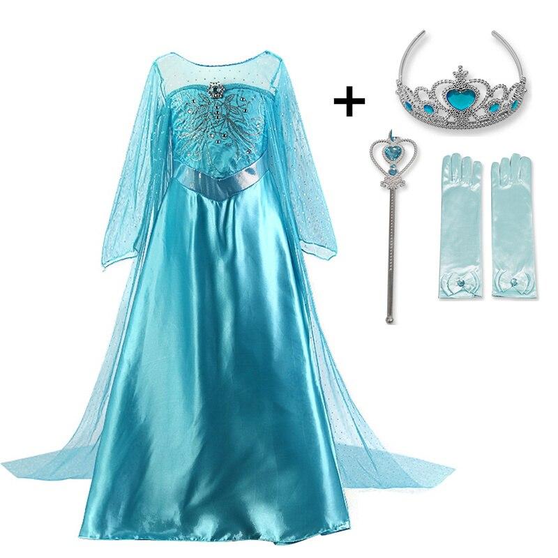 HTB1vBoVcfWG3KVjSZFgq6zTspXam Cosplay Queen Elsa Dresses Elsa Elza Costumes Princess Anna Dress for Girls Party Vestidos Fantasia Kids Girls Clothing Elsa Set
