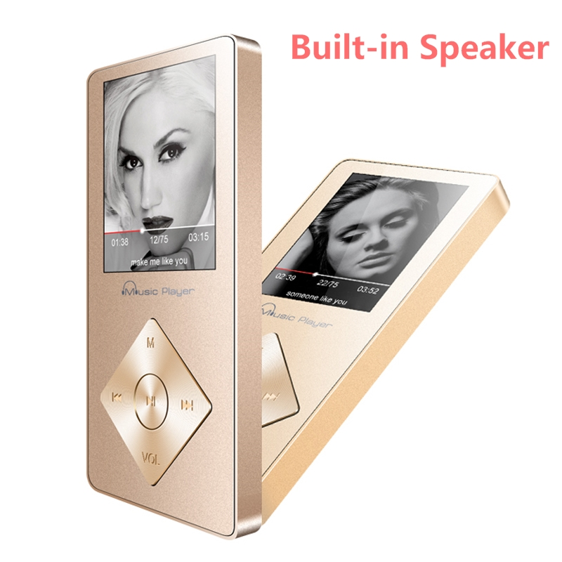Portable Music Player with Speaker 8GB MP3 Player Walkman Audio Player Video Player Hi Fi Sound