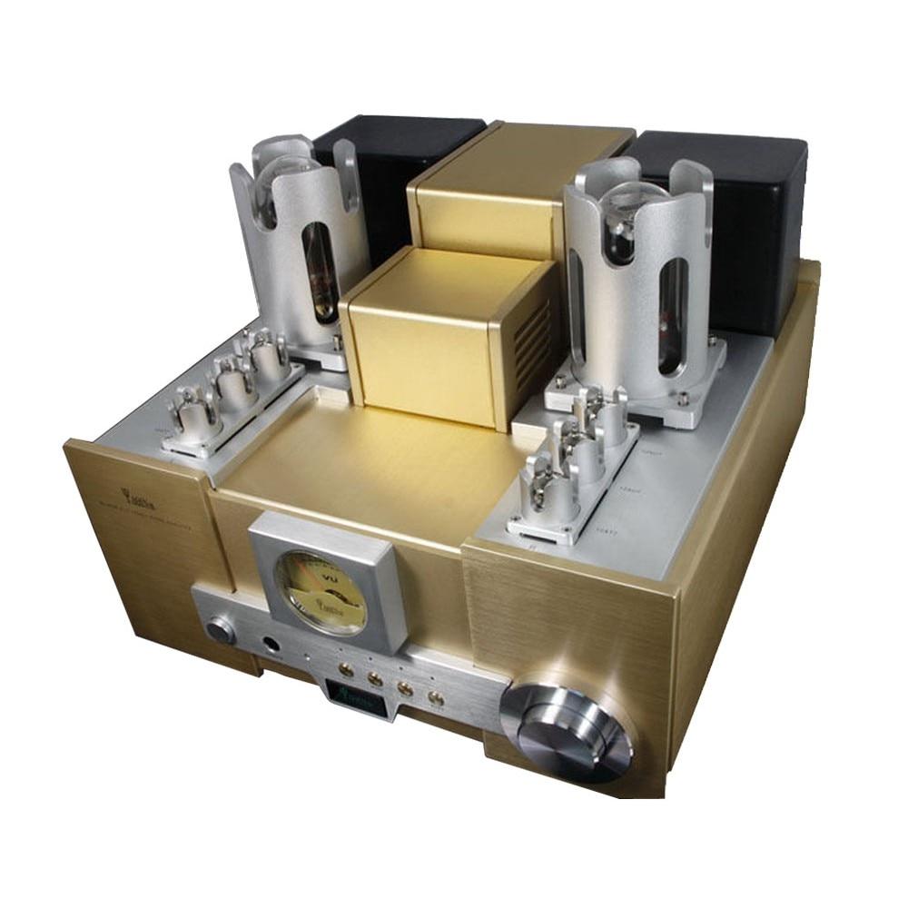 YAQIN MS-650B 15WPC 845 x 2 Vacuum Tube Hi-End Tube Integrated Amplifier Gold/Silver free shipping yaqin ms 110b vacuum tube integrated amplifier brand new