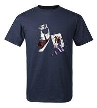 Cool T-shirt Joker Heath Ledger Vintage Batman 2 2017 summer new fashion 100% cotton loose fit men t shirts brand clothing