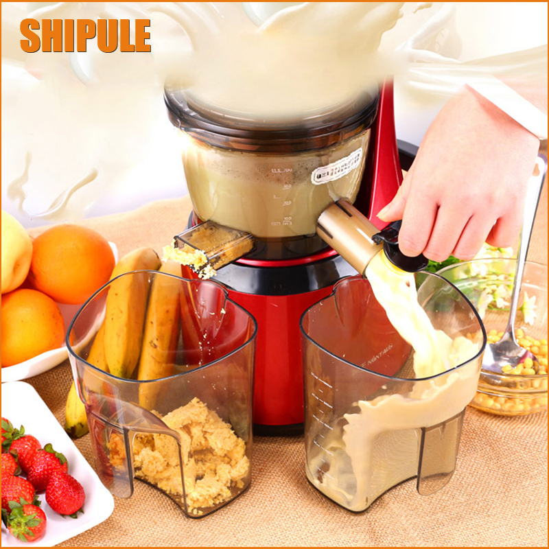 цена на Free Shipping Whole Slow Juicer 150W Big Caliber Fruits Low Speed Juice Extractor Juicers Fruit Machines
