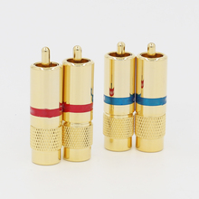 4 adet Hifi Ses Altın Kaplama RCA fiş jack Uzatma adaptörü diy için RCA kablosu