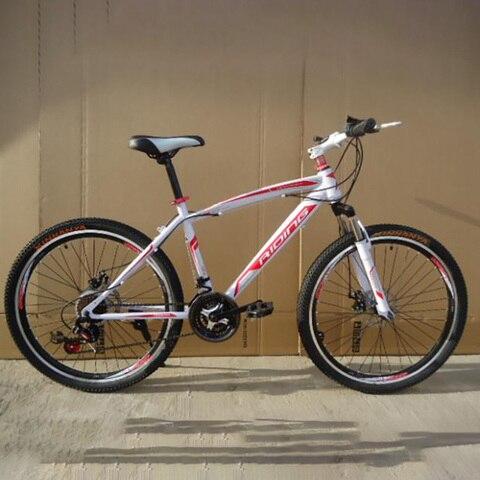 Material de Aço Carbono Velocidade Polegada Primavera Garfo Ciclismo Equipmen Mountain Bike 21 26