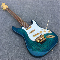 Custom shop,Locking tuners ST electric guitar,Rosewood fretboard with abalone dot inlays,3 single coils,Real picture!