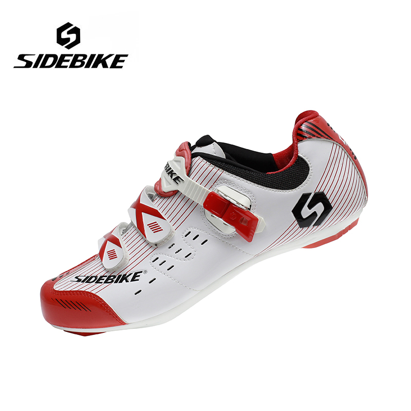 Sidebike Cycling Shoes Men Road Bike Shoes Breathable Athletic Racing Bicycle Shoes Self Lock Outdoor Sports Sneaker Ciclismo sidebike mens road cycling shoes breathable road bicycle bike shoes black green 4 color self locking zapatillas ciclismo 2016