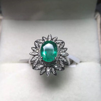 (Продается canbe подгонять) Fine Jewelry Идеальный 18 К золото идеальная высшего сорта Зеленый Изумрудный кольцо обручальное кольцо