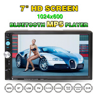 7023D 2DIN 7 inch Car MP5 HD Player with Card Reader Radio Car Stereo Audio MP5 Player Fast Charge Without Camera Bluetooth