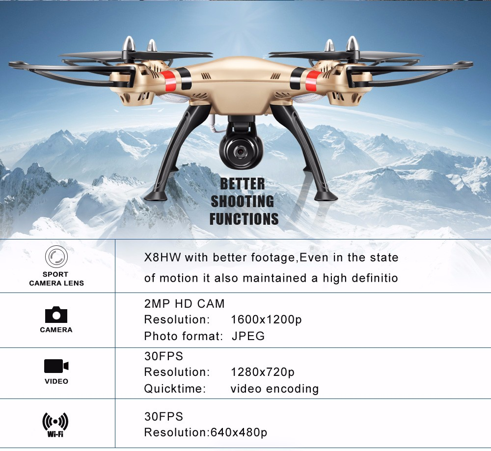 SYMA Official X8HW FPV RC Drone with WiFi HD Camera Real-time Sharing Drones Helicopter Quadcopter Dron with Hovering Function 14