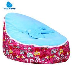 Levmoon Средний Лебедь любовник кресло мешок детская кровать для сна Портативный складной детского сиденья Диван Zac без наполнителя