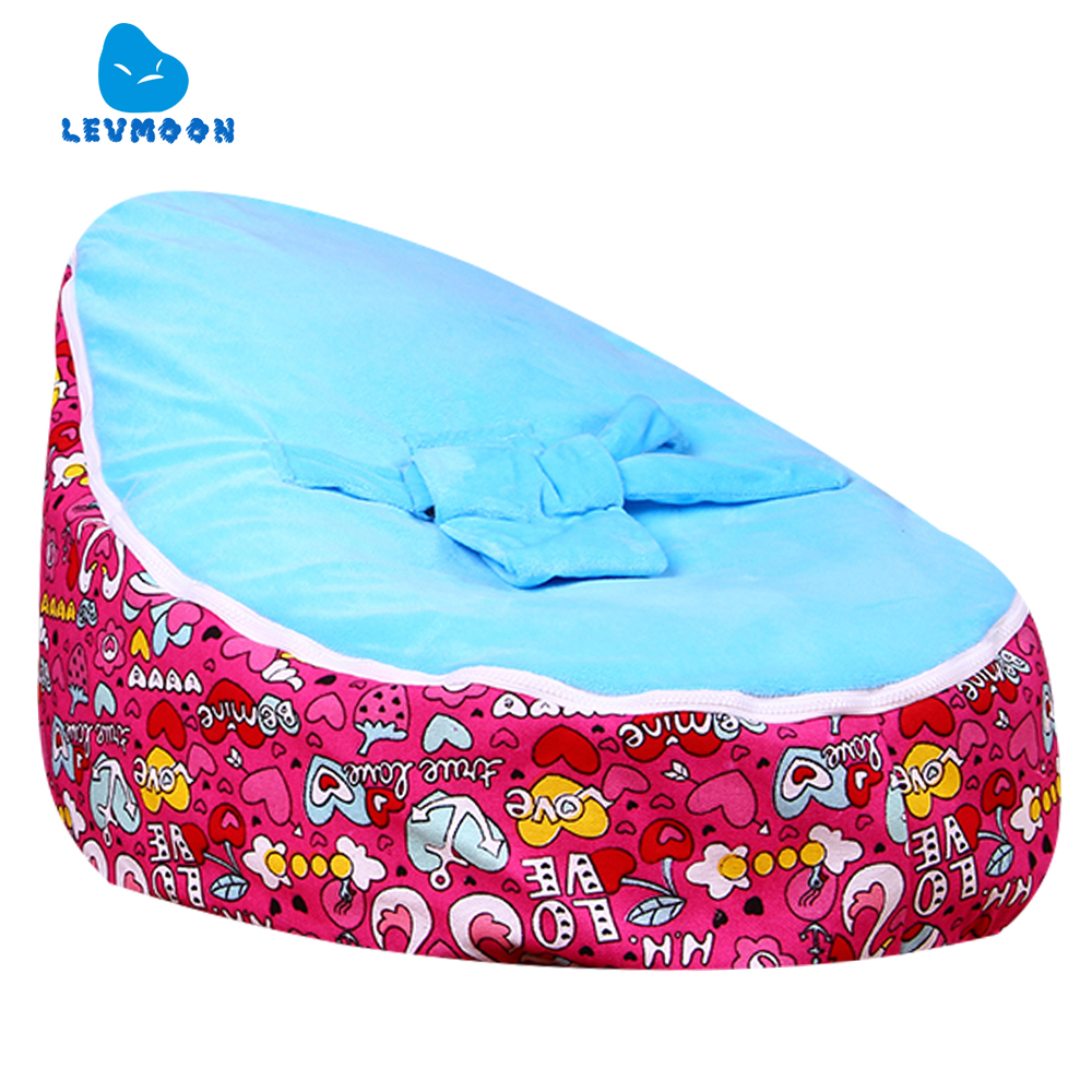 Levmoon Medium Swan Lover Bean Bag Chair Kids Bed For Sleeping Portable Folding Child Seat Sofa Zac Without The Filler