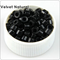 Silicone Liner Micro Rings Aluminum Beads 5 0mmX3 0mm Micro Links Bead 7 Kinds Color Optional