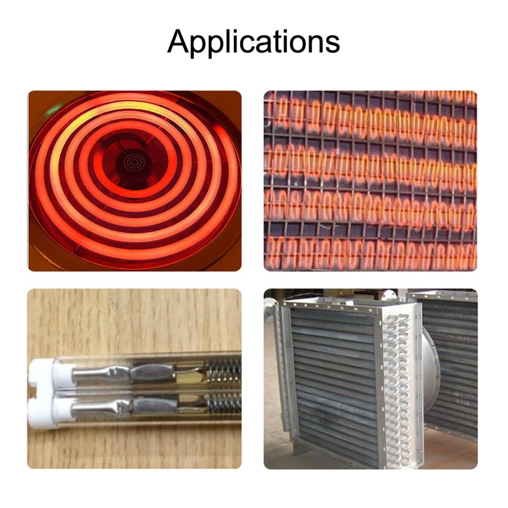 Uxcell Heating Element Coil Wire AC220V 1200W 800W 1000W 1500W Kiln Furnace Heater Wire 5.6x480mm 4.7x310mm 4.9x410mm 5.8x560mm