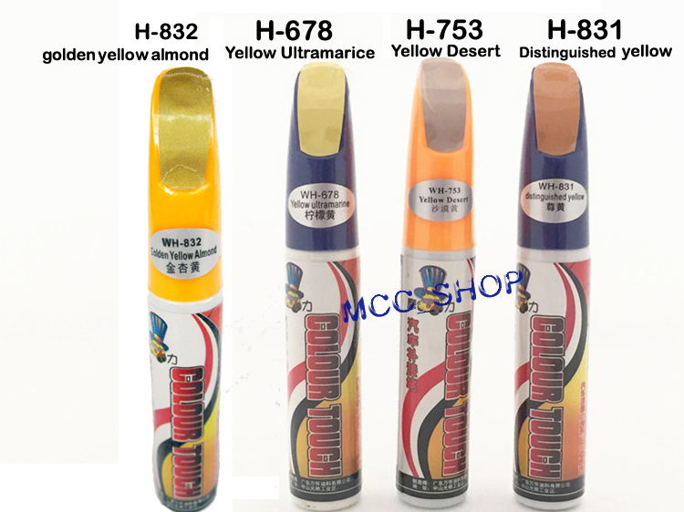 Golden Yellow Almond Pro Mending Car Remover Scratch Repair Paint Pen Clear Yellow Series For Choices