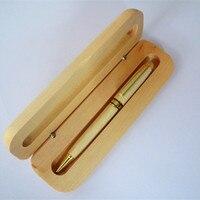 Maple hout pen pak praktische senior gift LOGO custom spot hout houten balpen