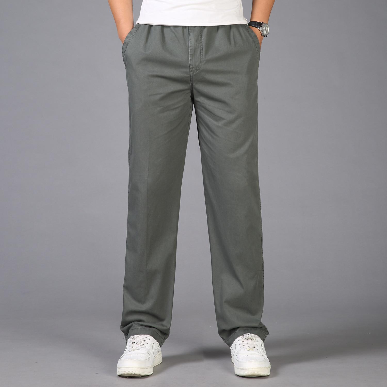 Men Cargo Pants Plus Size 5XL 6XL Man Overall Male Cotton Work Trousers Multi-Pocket Elastic Waist Loose Straight Pants Joggers