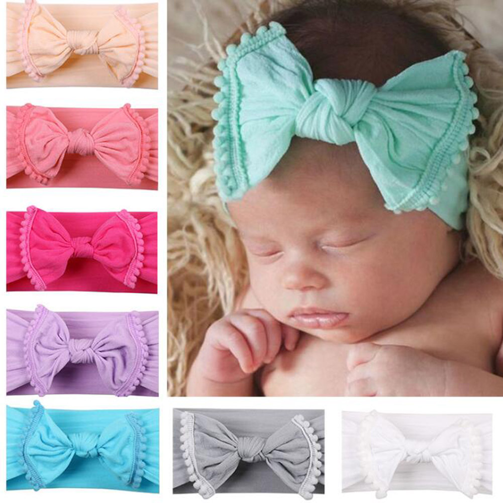 Girls Print Bowknot Print Floral Headbands Newborn Infant Hair Accessories Children Rabbit Ears Elastic Hair Bands Baby Headwear(China)
