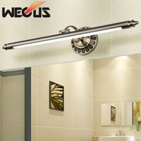 500mm europe american bathroom lamp retro bedroom mirror light led hotel restaurant decoration light 85 265V 8W