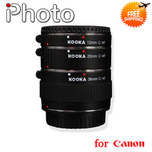 Cobre 12mm 20mm 36mm Macro Extension Tube Set para Canon EF EFS SLR AF Foco Automático da Lente Da câmera 5D2 5D3 7D 70D 6D 650D 600D 550D